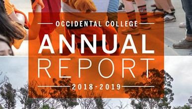 Cover of the 2018-2019 Occidental College Annual Report
