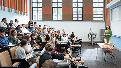 Image of a career education seminar in a classroom