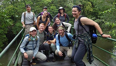 Student researchers in Costa Rica
