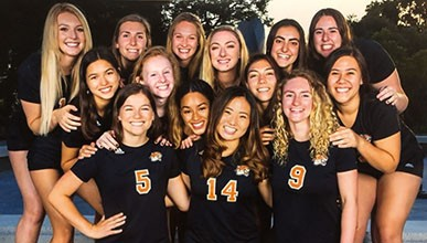 Oxy women's volleyball team
