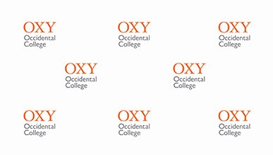 The Oxy logo repeated on a white background