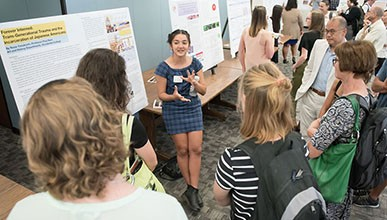 Student presenting at 2019 Summer Research Conference