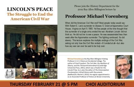 Billington Lecture Poster
