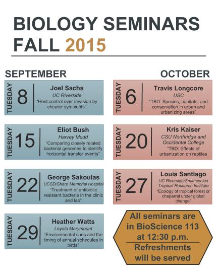 Image for Biology Seminars Fall 2015