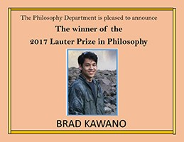 Announcement and photo of Brad Kawano