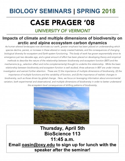 Image for Case Prager '08 - Impacts of climate and multiple dimensions of biodiversity on arctic and alpine ecosystem carbon dynamics