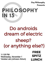 Philosophy in 15 minutes event poster