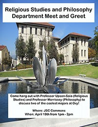 Philosophy Department Meet and Greet event poster