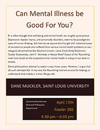Dane Muckler guest lecture event poster