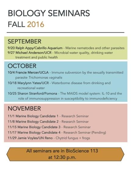 Image for Fall 2016 Biology Seminar Series
