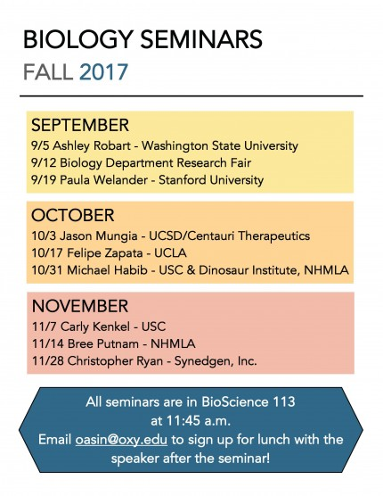 Image for Fall 2017 Biology Seminar Series