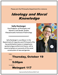 Ideology and Moral Knowledge event poster