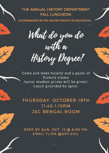 Image for Annual History Department Fall Luncheon