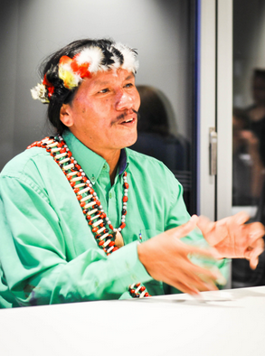 Image for Moi Enomenga, Amazonian Tribal Chief, Visits Occidental