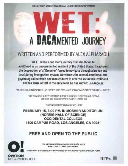 WET: A DACAmented Journey Event Poster
