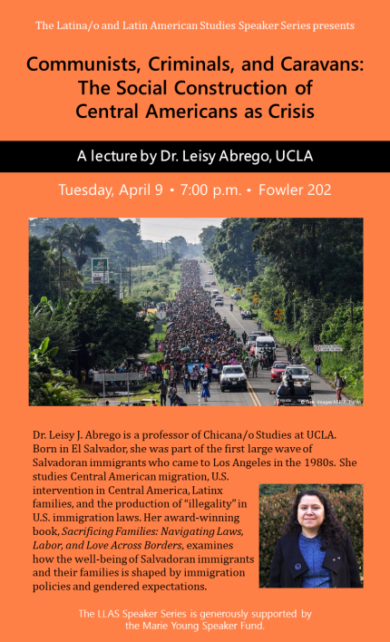 Poster for Abrego lecture