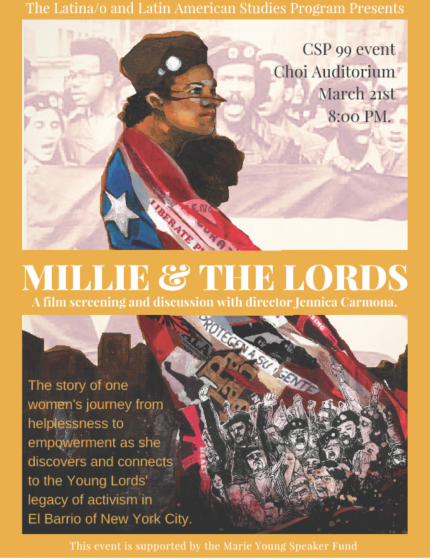 Poster for Millie & The Lords