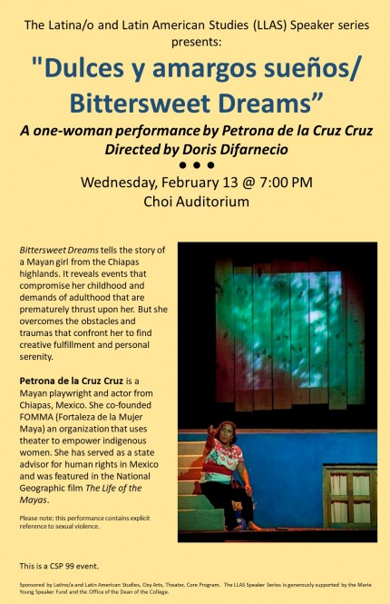 Poster for Petrona de la Cruz Cruz performance