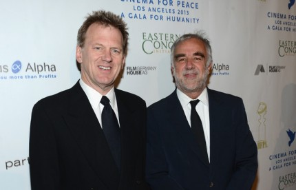 Pictured left to right: Ted Braun and Luis Moreno Ocampo
