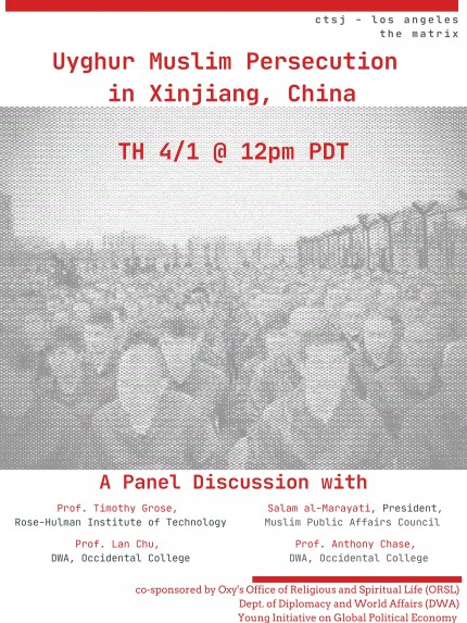 Poster for Panel on Uyghur Muslim Persecution