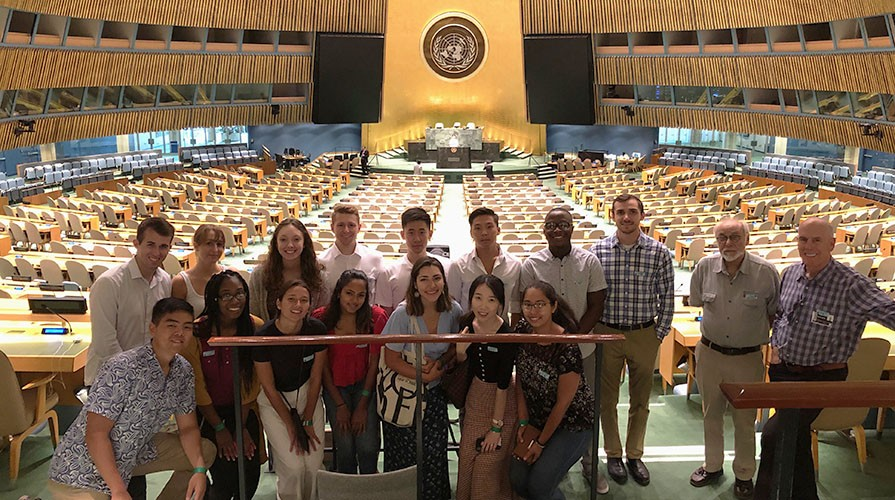 Oxy students in the UN headquarters