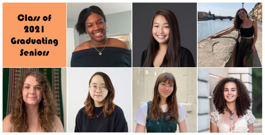 Composite photo of seven graduating seniors