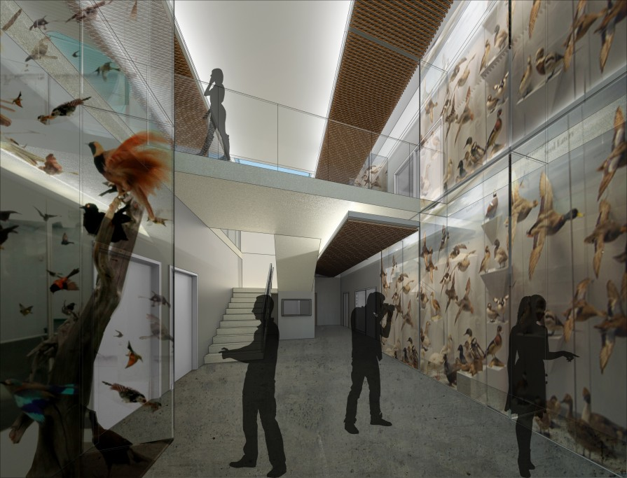 Proposed entryway of the new Anderson Environmental Center