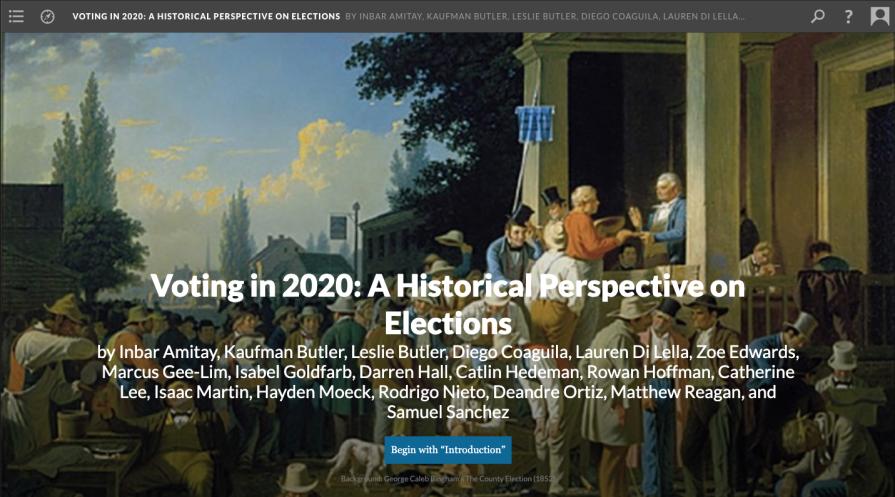 Screenshot of History 295 Scalar project