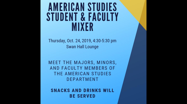Flyer for American Studies Mixer