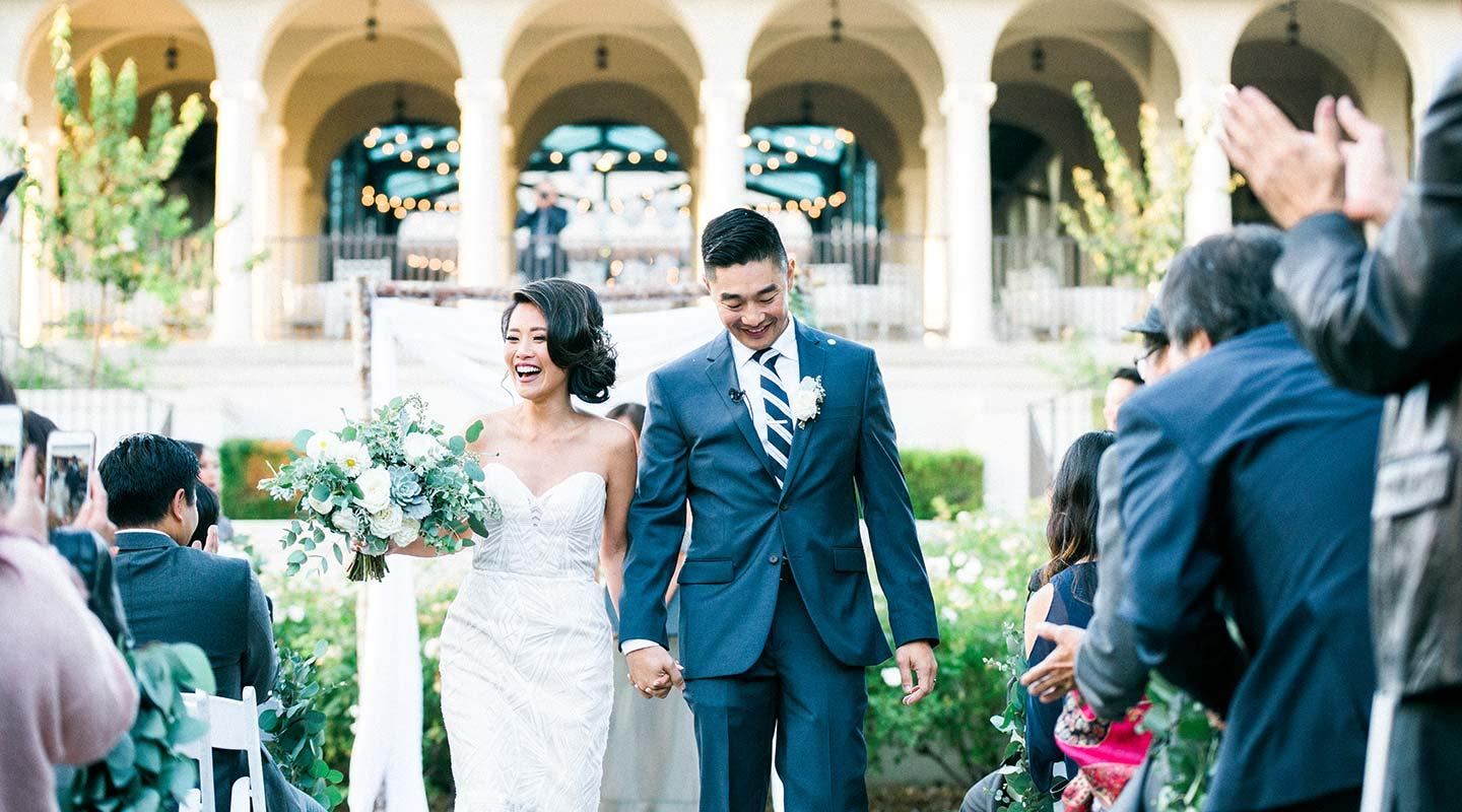 A wedding celebration at Occidental College