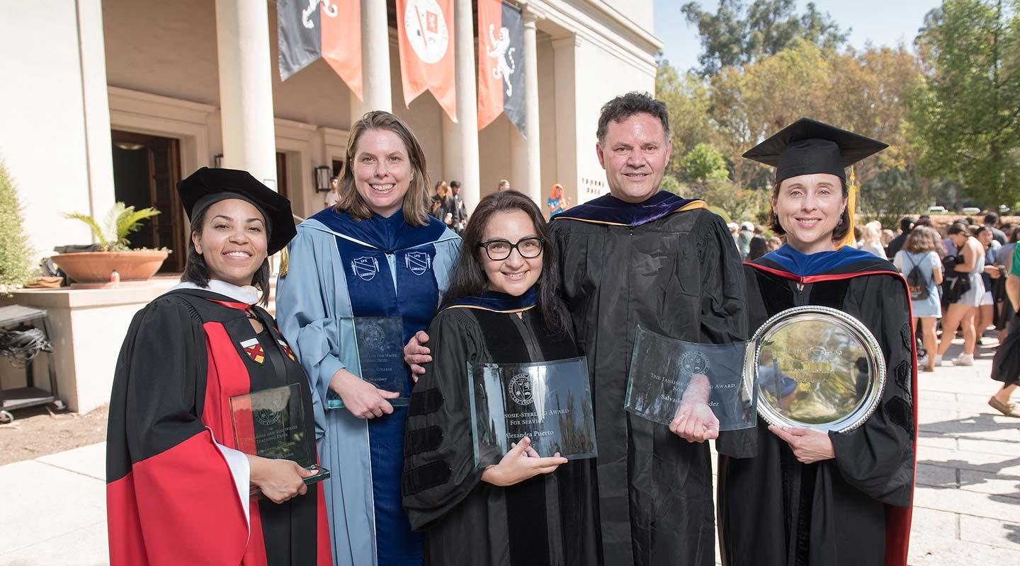 Faculty award recipients at the 2017 Convocation