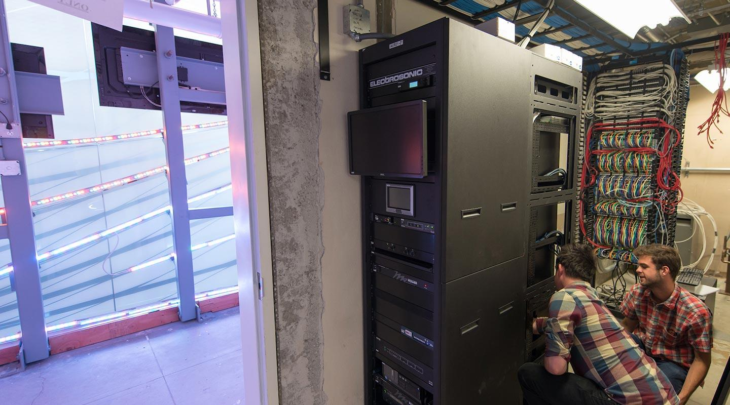 A look at the servers that power the media wall
