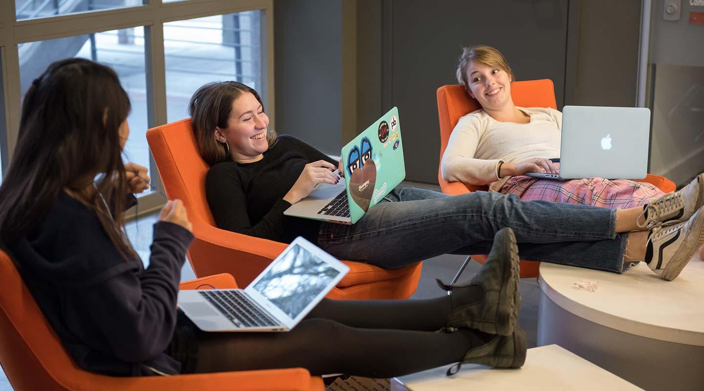 Students relax in the SAC
