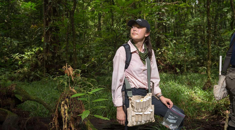 Oxy student Hannah Hayes at La Selva Biological Station