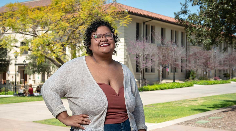 Oxy student Rosa Pleasant