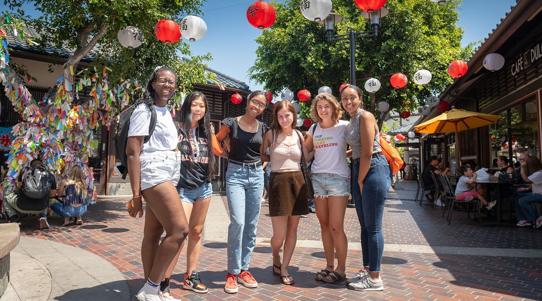 Oxy students in Little Tokyo, LA