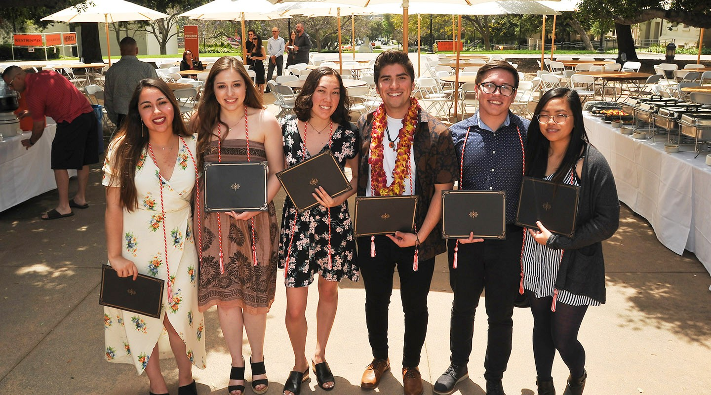 group of first-gen Oxy students