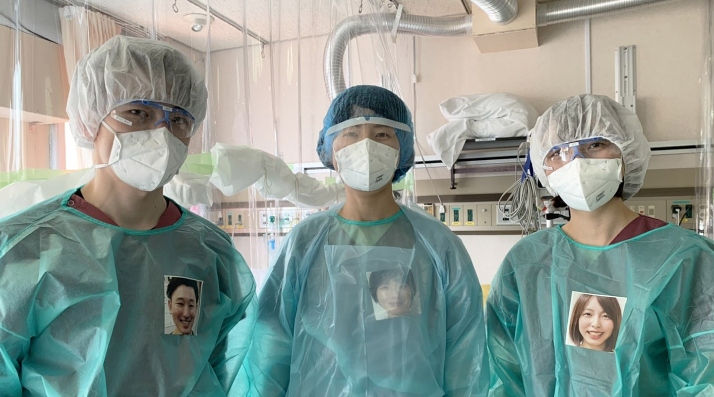 Nurses in Japan wearing PPE Portraits