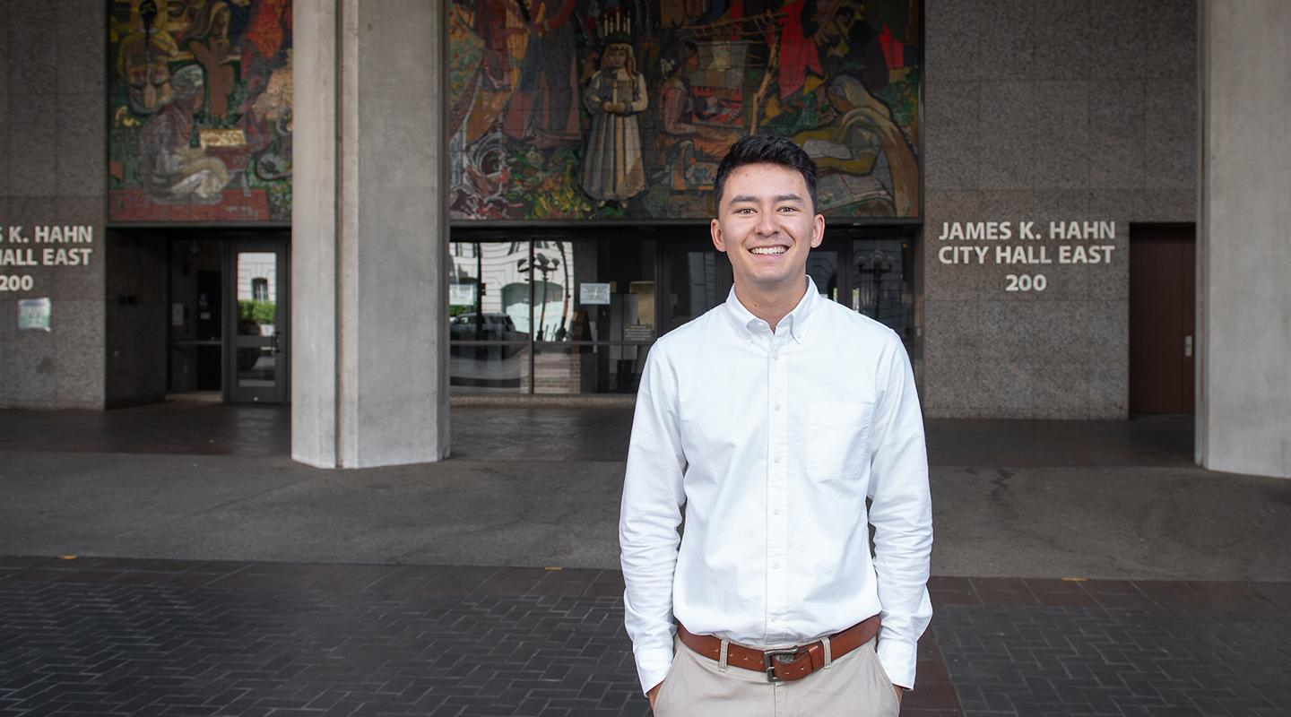 Oxy student Phillip Wong, class of 2020