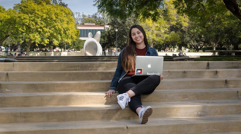 Oxy student Stephanie Angulo, class of 2019