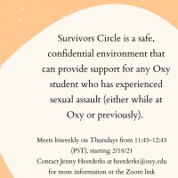 Survivors Circle flyer describing event and contact information