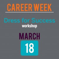 Career Week Dress for Success graphic