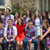Students at Oxy's Lavender Graduation Ceremony to celebrate LGBTQ+ grads