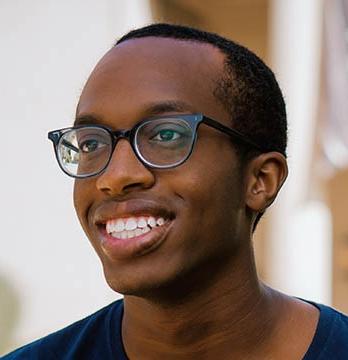 Oxy student Jordan Walker, Class of 2021
