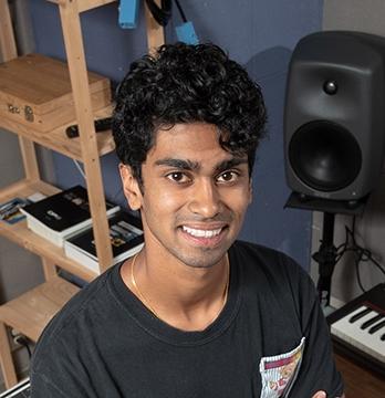 Student Anoop D'Souza