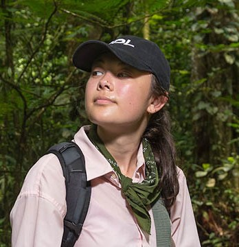 Oxy student Hannah Hayes at La Selva Biological Station