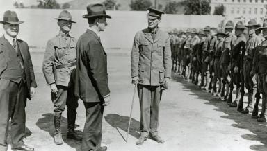 President Silas Evans in 1918