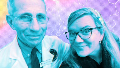 Dr. Anthony Fauci and Kate Rope '95