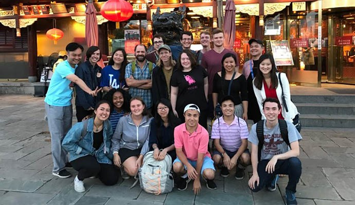 Oxy students on a course abroad in China