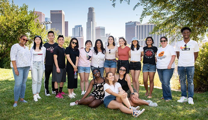 group of students in LA